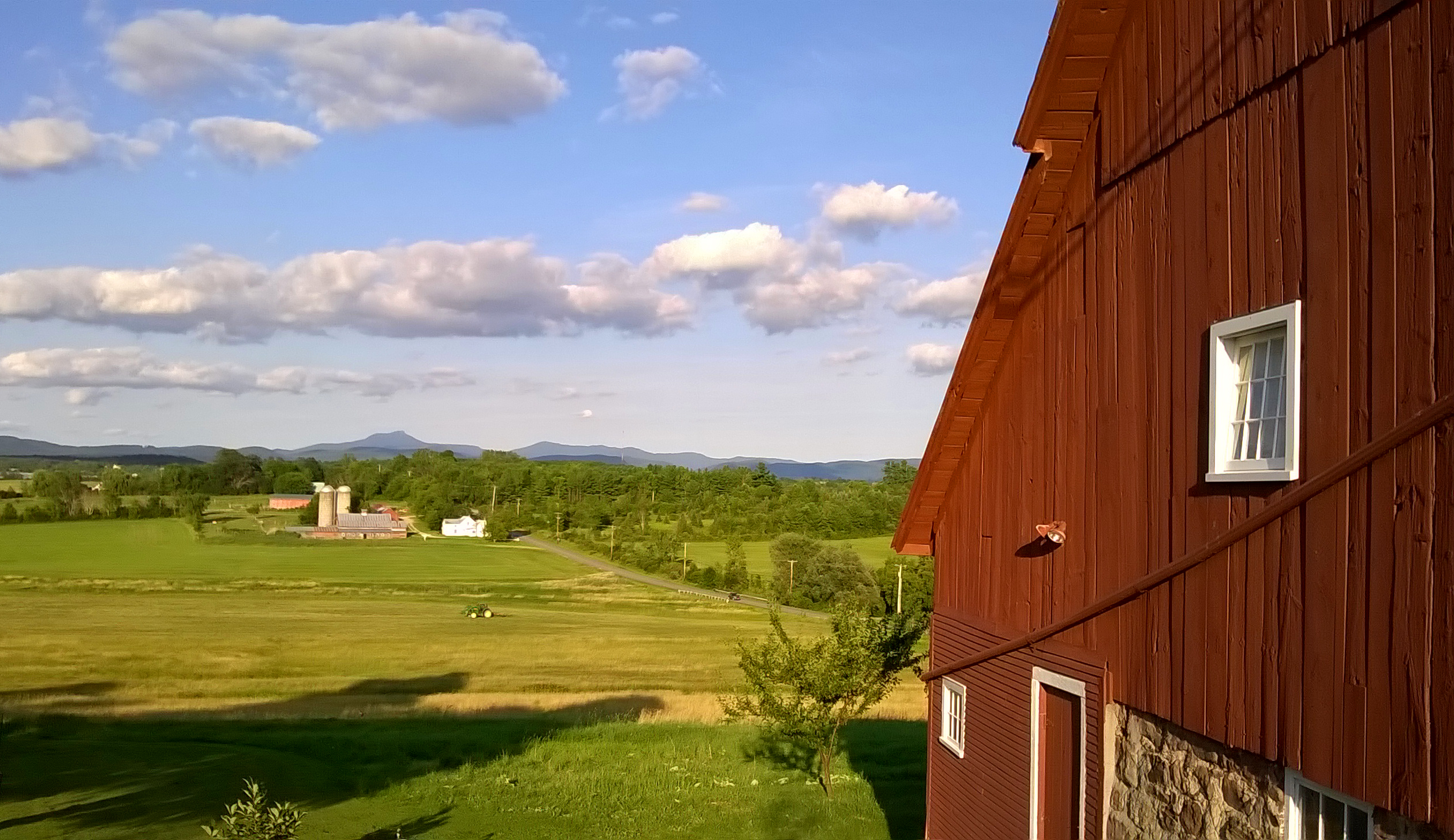 barn view of camels hump
